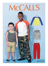 McCall's Sewing Pattern 7373 SZ 3-6 Children's/Boys' Tops Tank Tops Pants Shorts