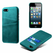 For iPhone 4 4S 5 5S SE 5C 6 7 8 Plus Leather Wallet Card Slot Hard Case Cover