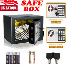 🔥Electronic Digital Safe Box Keypad Lock Security Home Office Cash Jewelry Gun|