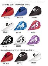 10 X Sets Unicorn DXM Maestro Darts Flights Phase 5 Phil Taylor - Choose Colour Black
