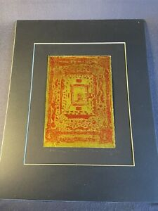 """Susan Pearey """"Gilded Dragon"""" Limited Edition Print Signed Numbered Gold  & Red"""