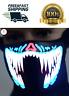 Halloween LED Luminous Flashing Face Mask Party Masks Light Up Dance Cosplay