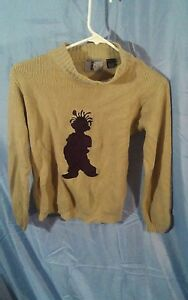 Vintage 90's Urban Wear CCNY Hip Hop Pullover Acrylic Sweater Brown Child sz 7