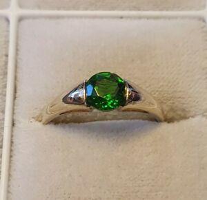 Exclusive Gold Ring With Cromdiopsid gr.61 Unworn Look