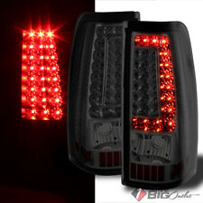 Ver2 For 03-06 Silverado, 05-06 Sierra, 07 Classic Smoked LED Tail Lights Signal
