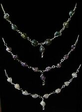 Beautiful Hand Crafted Wire Wrapped Stone Necklace Set