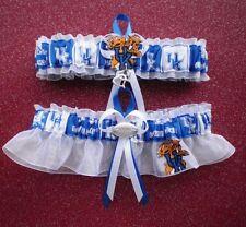 Univ. Kentucky Wildcats Fabric Wedding Garter double heart football charm sport