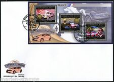 GUINEA 2012 FRENCH CARS  OF THE WORLD  SHEET  FIRST DAY COVER