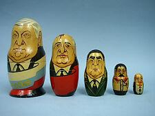Leaders of Russia Matryoshka Dolls - Handpainted & Signed