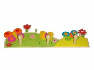 NEW Butterfly and Flowers Coat Rack- 4KnB