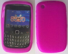 COVER CUSTODIA SILICONE PER BLACKBERRY CURVE 8520 COLORE FUCSIA IDEA REGALO