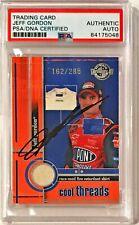 2003 Press Pass NASCAR Jeff Gordon Race Used Fire Suit Signed Auto Card PSA/DNA