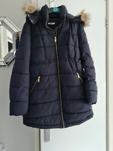 Womens Maternity Puffa Parka Winter Coat H&M Size EUR S UK 8-10