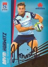 ✺Signed✺ 2017 NSW WARATAHS Rugby Union Card DAVID HORWITZ Gold