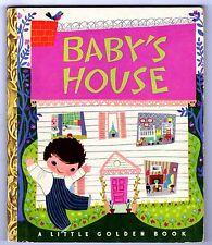 "BABY'S HOUSE ~ vintage 1st ""A"" ed. Little Golden Book #80, Mary Blair (Disney)"