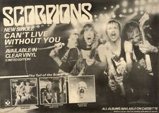 10/7/1982Pg38 Single Advert 7x10 The Scorpions, Can't Live Without You