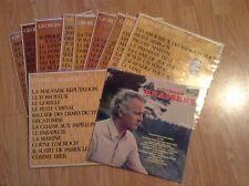 Lot de 10 x 33 Tours vinyl  LPs Georges Brassens