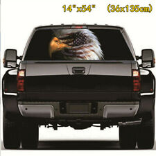 American Flag Eagle Graphic Tint Decal Rear Window Sticker For Truck Jeep SUV 3D