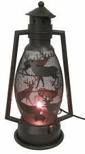 Metal Deer Themed Lantern Night Light