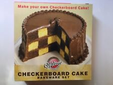 NEW Wilton Checkerboard Cake Pan Baking Set Includes 3 Round Pans, Dividing Ring