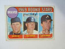 1969 Topps # 611 Bob Didier Walt Hriniak Gary Neibauer Autograph Signed Card (M)