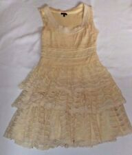 ASOS UK 12 EUR 40 CORNISH CREAM LACE LAYERED SLEEVELESS  DRESS