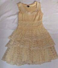 ASOS UK 12 EUR 40 CORNISH CREAM LACE LAYERED SLEEVELESS  DRESS