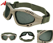 Airsoft Tactical Paintball Metal Mesh Eyes Protector Goggle Glasses Eyewear Tan