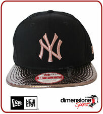 CAPPELLINO NEW ERA NY NEW YORK YANKEES NERO VISOR SHINE 9FIFTY S/M REGOLABILE