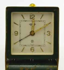Vintage Jaeger Le Coultre Table/Desk Alarm Clock 2 Days Travel Handwinding