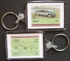 1980 PORSCHE 928S Car Stamp Keyring (Auto 100 Automobile)
