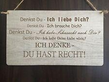 Türschild Deko schild Landhaus Vintage Shabby Retro Style Liebe Love Dekoschild