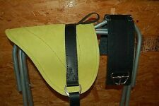 LEATHER BAREBACK SADDLE  PONY PAD by RIDERS CHOICE  LIME