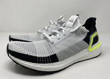 Adidas UltraBOOST 19 m Men's Size 10 White/Black/Green EF1344 Running Shoes