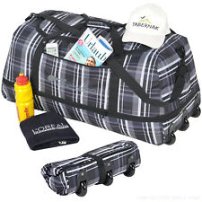 Reisetrolley faltbare Rollentasche COCOONO Trolley Koffer 100-135 Liter Plaid