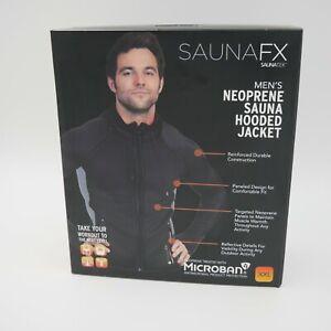 SAUNAFX Mens Jacket, Neoprene Sauna Hooded Jacket, XXL New In Box
