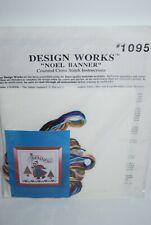 """New listing Design Works Christmas Cross Stitch Kit """"Noel Banner"""" #1095"""