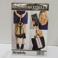 Simplicity 2350 Cynthia Rowley Bags One Size