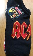 AC/DC Socks 5 Pack No-Show Socks Size 9-11 Shoes Size 4-10