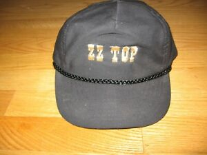 ZZ Top HAT GOLD EMBROIDERED NEW CONCERT TOUR SNAP BACK BLACK BASEBALL CAP