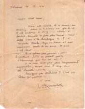 Jean ROUSSELOT. Lettre du 21 mars 1944 à propos de la mort de Max JACOB.