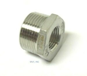 "1/2"" X 1/4"" 150# Cast Threaded (NPT) Hex Bushing 304 Stainless Steel <SS12040241"