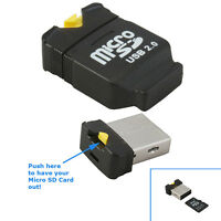 Micro Mini USB SD SDHC TF T-Flash Memory Card Reader Writer High Speed Adapter