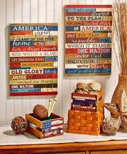 americana metal patriotic home décor plaques & signs | ebay