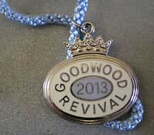 GOODWOOD REVIVAL 2013 Enamel Badge with Cord MOTORSPORT MOTORING