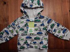 Topomini Sweatshirt Pullover Junge grau mit Autos Gr. 80 !!!Neu!!!