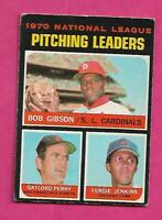 RARE 1971 OPC # 70 CUBS FERGIE JENKINS LEADERS VG CARD (INV# C2273)