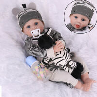 Reborn Dolls Handmade Baby Dolls Girl Vinyl Silicone Newborn Doll Gift &Clothing