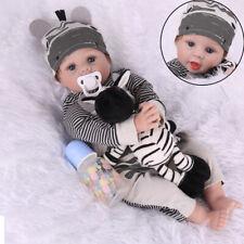 "22"" Lifelike Reborn Doll Baby Girl Vinyl Silicone Real Newborn Baby Dolls Gift"