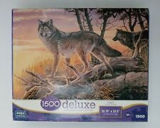 "New Large Deluxe Mega Wolves ""Catching The Sunset"" 1500 Piece  Puzzle  (Sealed)"